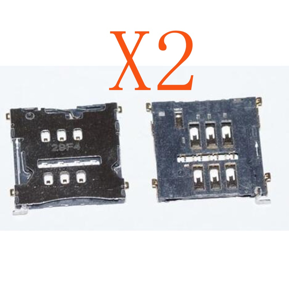 2 X SIM Connectors For LG E960 Google Nexus 4 Sim Card Reader Holder Slot Unit Repair Part New In Stock +Tracking