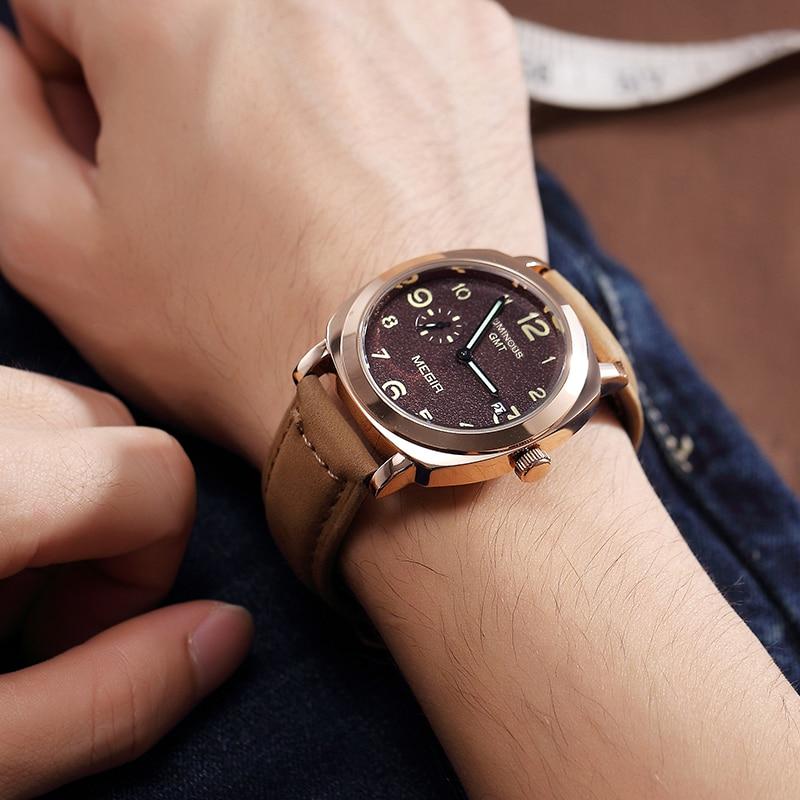 MEGIR Men's Creative Military Sports Watches Fashion Leather Strap Waterproof Quartz Wristwatches Men Clock Relogio Masculino