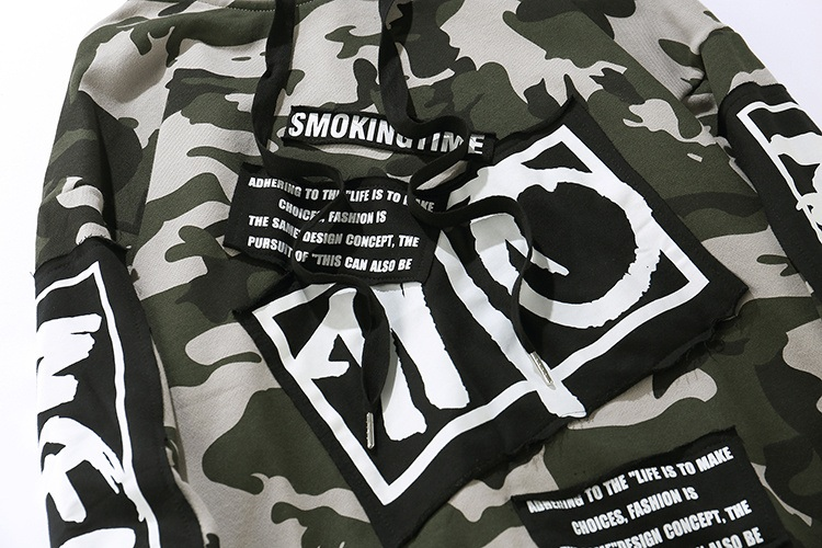 Camouflage Patch Hoodies 4