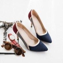 Size34-43 2016แฟชั่นใหม่เลดี้กางเกงยีนส์ปั๊มผู้หญิงฤดูใบไม้ผลิฤดูร้อนเลดี้รองเท้าส้นสูงรองเท้าผู้หญิง