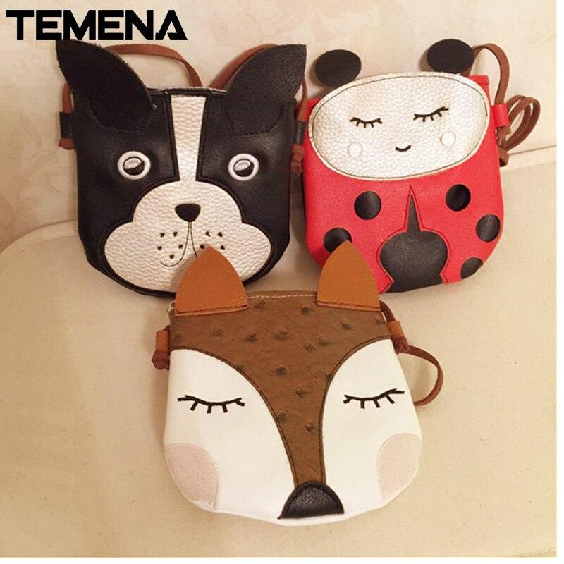 Cartoon cute Fox puppy small Ladybird bag children Messenger bag toilet bag change baodan shoulder bag AMB485 lovely fox children one shoulder bag