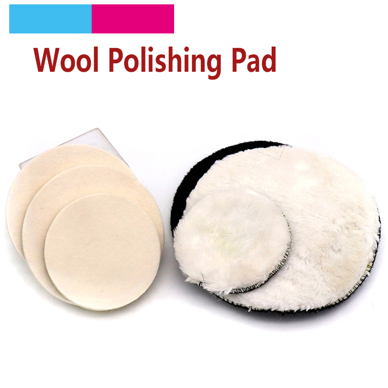 1pcs Hot Sale 4' 5' 6' 7' Round Fine Polishing Pad Wheel Self-adhesive Car Paint Care Waxing Sponge Wool Polisher Bonnet Tools
