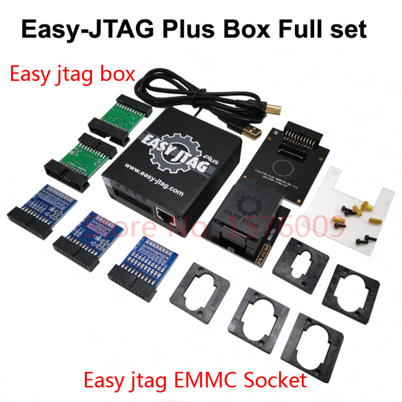 2019 nouvelle version ensemble complet facile Jtag plus boîte facile-Jtag plus boîte + EMMC prise pour HTC/Huawei/LG/Motorola/Samsung/SONY/ZTE