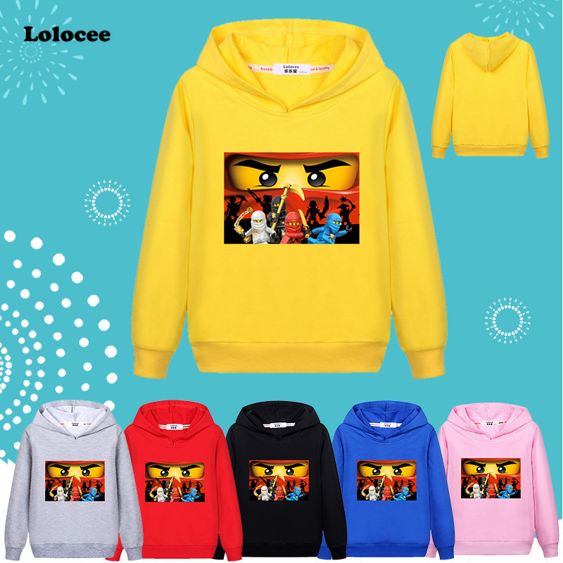 50568334 Ninjago Boys Hoodie T shirt Kids Ninja Movie Costumes Cotton Clothes 3-13  age Children Blue Sweatshirt Outwear Girls ...