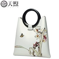 Pmsix 2019 New Women Leather bag Superior Cowhide Fashion print Designer Luxury women handbags women leather bag beige