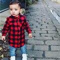 Baby Дети Блузки Мальчиков Одежда Для Девочек С Длинным Рукавом Пледы Проверяет Топы Блузка Наряд
