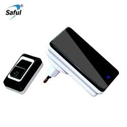 Saful беспроводной дверной звонок батарея EU/AU/US/UK электронный 28 рингтонов Push/Touch дом дистанционного управления умный водонепроницаемый дверно...