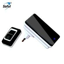 Saful Wireless Doorbell Battery EU/AU/US/UK Electronic 28 Ringtones Push/Touch H