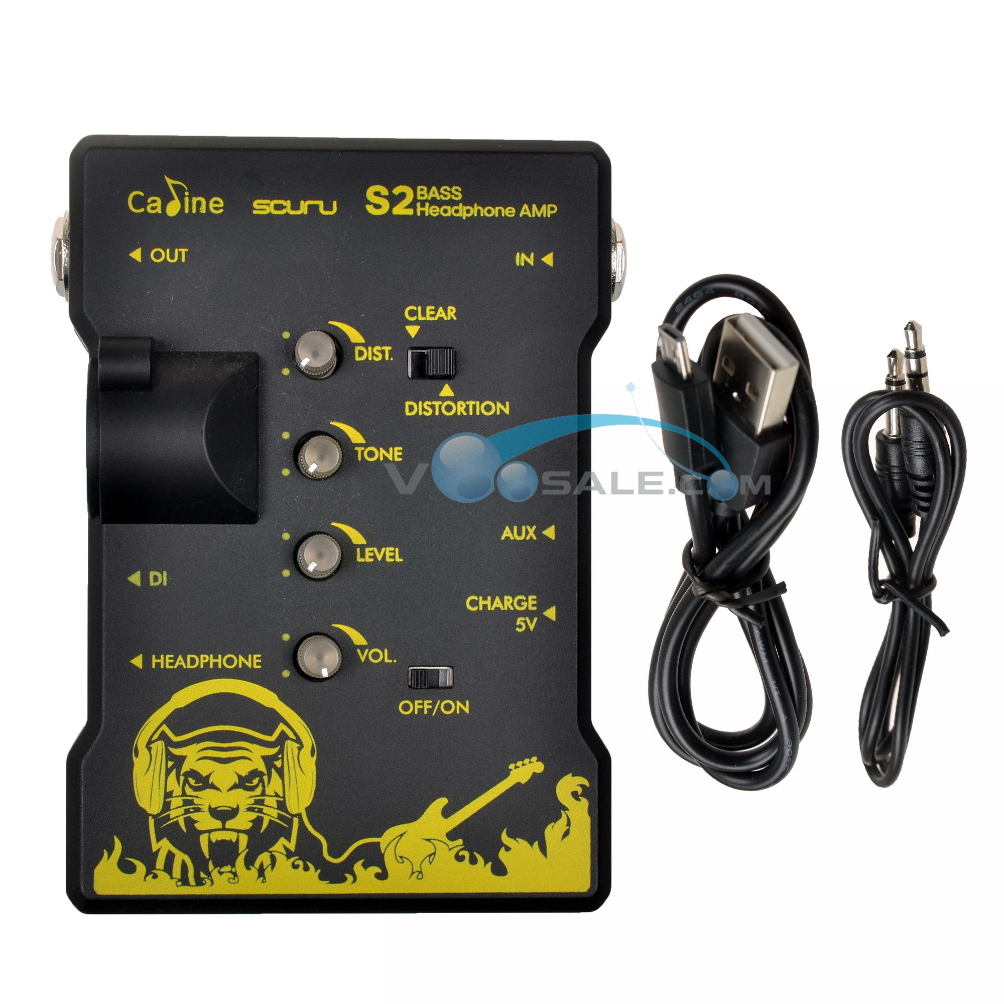 Caline S2 Bass Headphone AMP Guitar Accessories Guitar Parts XLR Output Recharge Headphone Good Quanlity