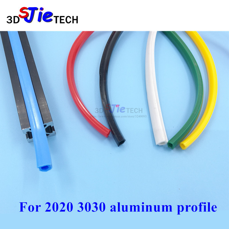 20 30 Serie 6mm 8mm Flat Seal For 2020 3030 Aluminum Profile Soft Slot Cover/Panel Creality Holder Black/white/blue/red/yellow