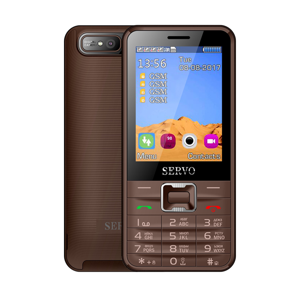 Image 4 - Quad Sim Cell phone Quad Band 2.8 inch 4 SIM cards 4 standby Phone Bluetooth Flashlight MP3 MP4 GPRS Russian Language keyboard-in Cellphones from Cellphones & Telecommunications