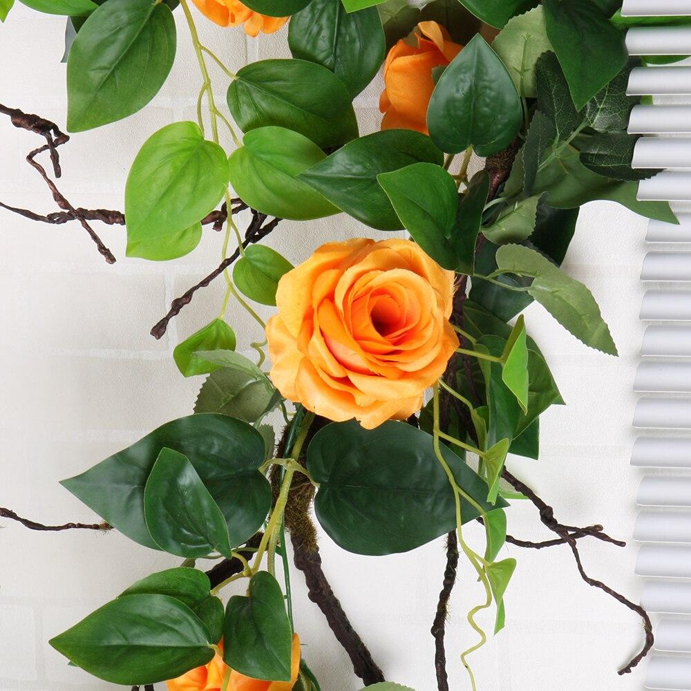 2.15m Wedding Decoration Simulation Artificial Fake Silk Rose Flower ...