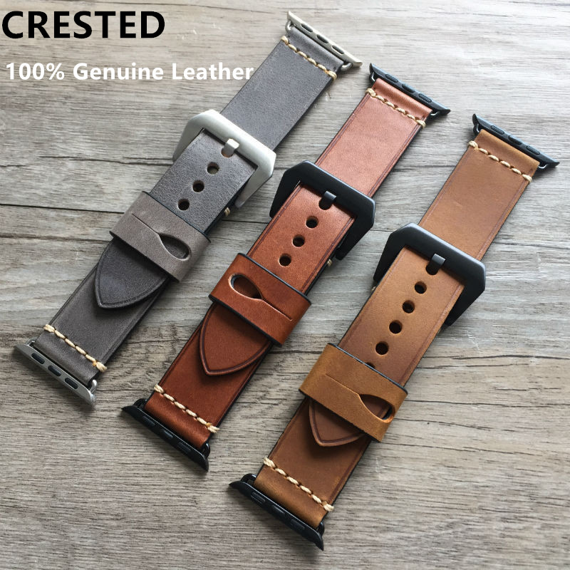 Genuine Leather strap For Apple watch band pulseira apple watch 5 4 3 42mm 38mm iwatch band 44mm 40mm correa watch Accessorie