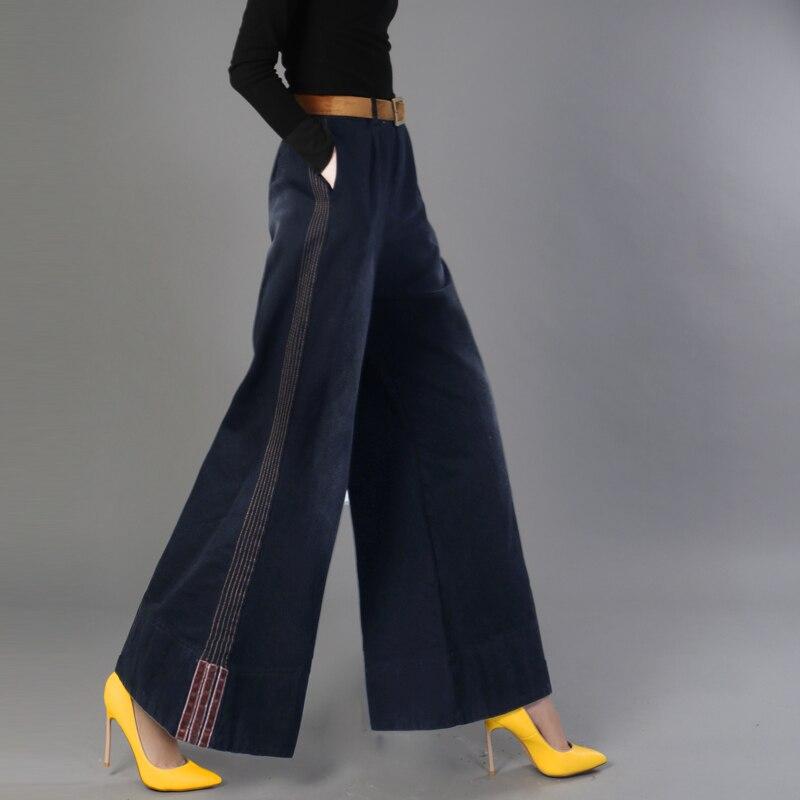 Vintage Mujeres Tencel Jeans Mujer Rayas Alta Suelto Novio Lxunyi Las Dark Blue Pantalones Delgada blue summer Ancha Pierna De Vaqueros Cintura fall SawqxCdEnC