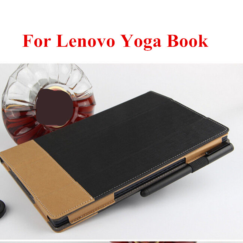 SD For Lenovo Yoga Book 10.1 Tablet PC Ultra Slim Folding Stand PU Leather Book Cover Protective With Magnetic Case sd for lenovo yoga book 10 1 tablet pc ultra slim folding stand pu leather book cover protective with magnetic case