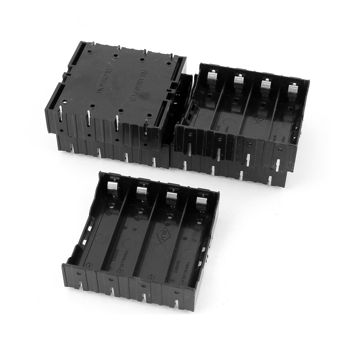 EDT-5Pcs Li-ion DIY Battery Plastic Case Holder for 4x3.7V 18650 Battery фен braun hd 350 1900вт черный