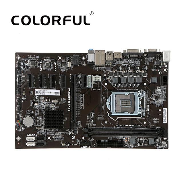 Colorful C.H81A-BTC V20 Motherboard Systemboard for Intel H81/LGA1150 Socket DDR3 SATA3.0 ATX Mainboard for Miner Mining Desktop