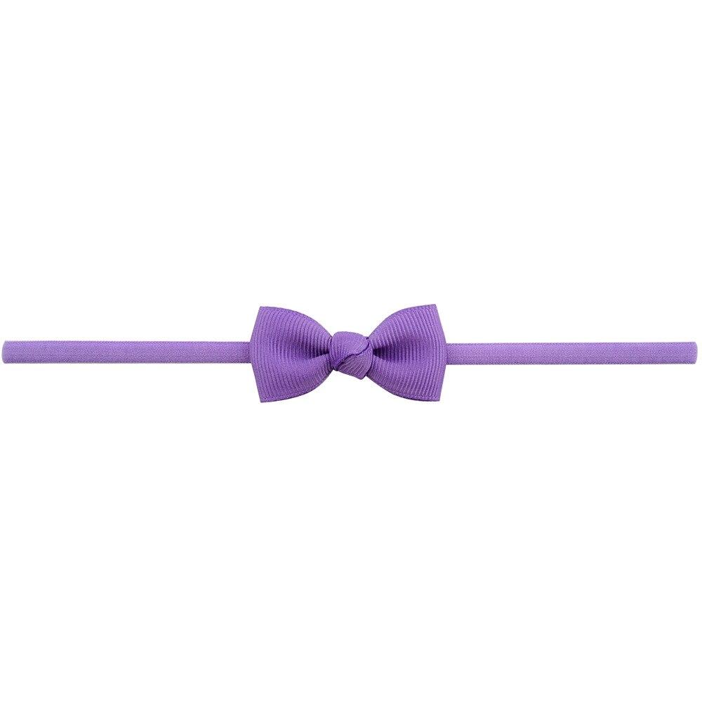 Повязка на голову для маленьких девочек; аксессуары для волос для младенцев; тканевый галстук с бантом; головной убор; Тиара; подарок для малышей; повязка на голову с лентой для новорожденных - Цвет: 5