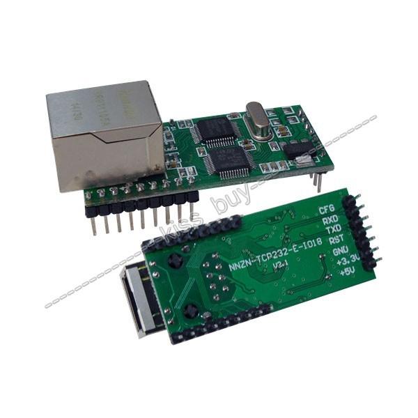 Ethernet para RS232 TTL TTL Serial para TCP/IP Conversor RJ45 Módulo de Transmissão