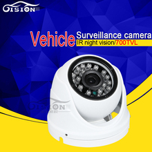 CCTV Security Use Indoor White Metal CCD Camera 600TVL 700TVL Night Vision LED Backup Vehicle Cam For Bus Truck Van