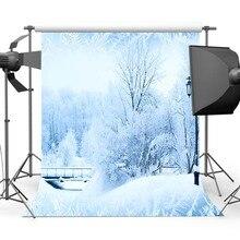 Mehofoto Зимний лес фон для фотосъемки белый снег фон для темы вечерние фотографические CM-6519
