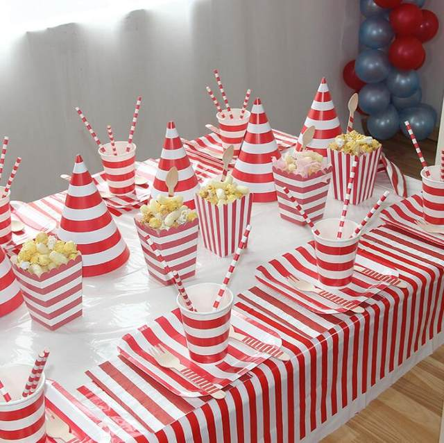 5pcs Party Celebration Chevron Cute Hat Birthday Festive Photograph Items Decorations Kids CP101