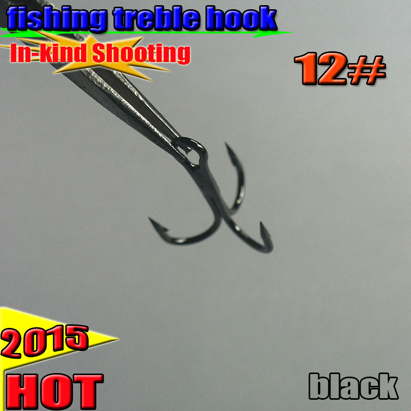 Free Shipping Treble Fishing Hooks Barble Hook Round Bend treble hook 1000pcs lot High Quality size