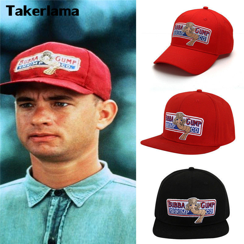 Takerlama 1994 Bubba Gump Shrimp CO. Baseball Hat Forrest Gump Costume Cosplay Embroidered Snapback Cap Men&Women Summer Cap anime pocket monster flareon cosplay cap orange cartoon pikachu ladies dress pokemon go hat charm costume props baseball cap