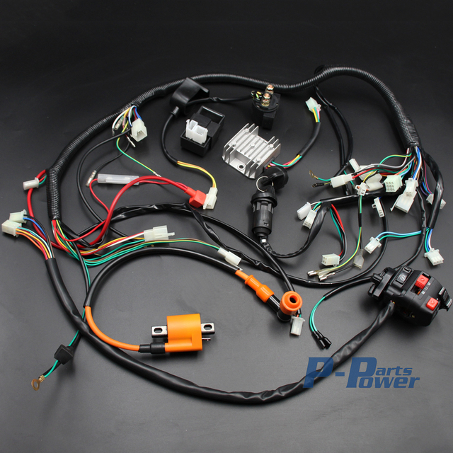 aliexpress com buy full wiring harness loom key solenoid rh aliexpress com