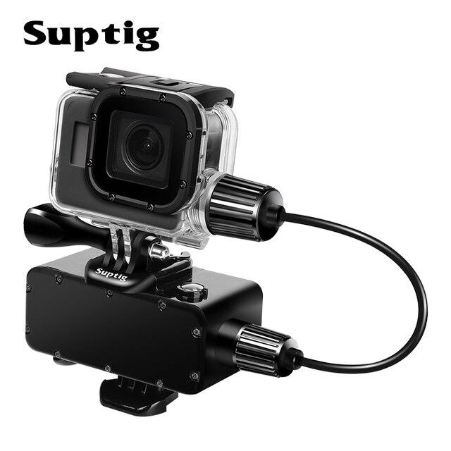Suptig 5200mAh עמיד למים כוח בנק סוללה מטען עמיד למים מקרה עבור GoPro גיבור 8/7/5/4/3 פעולה מצלמה SJ8 H9R טעינת תיבה