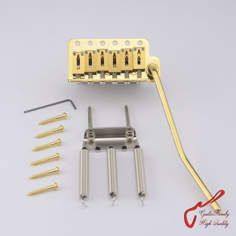 Genuine Original GOTOH 510TS-FE2  Electric Guitar Tremolo System  Bridge   ( Gold ) MADE IN JAPAN 1 set genuine original gotoh 510ts sf1 2 points vintage style electric guitar tremolo system bridge gold made in japan