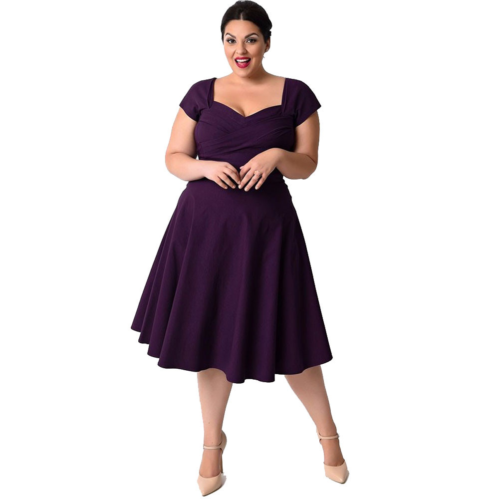 4ac42ac296 Detail Feedback Questions about Fashion Plus Size Women Dress Casual ...