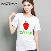 Prairie Chic Women Tops 2017 Summer Blouses Think Strawberry Print Korean Fashion Female Tumblr Clothes Blusas Basic Lady Shirts