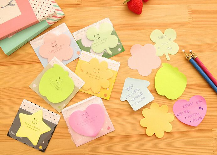 Memo Pads Candy Color Novelty Cute Kawaii Sticky Notes Book Post It Adhesive To Do Memo Pad Planner Stickers Paper Bookmarks Stationery