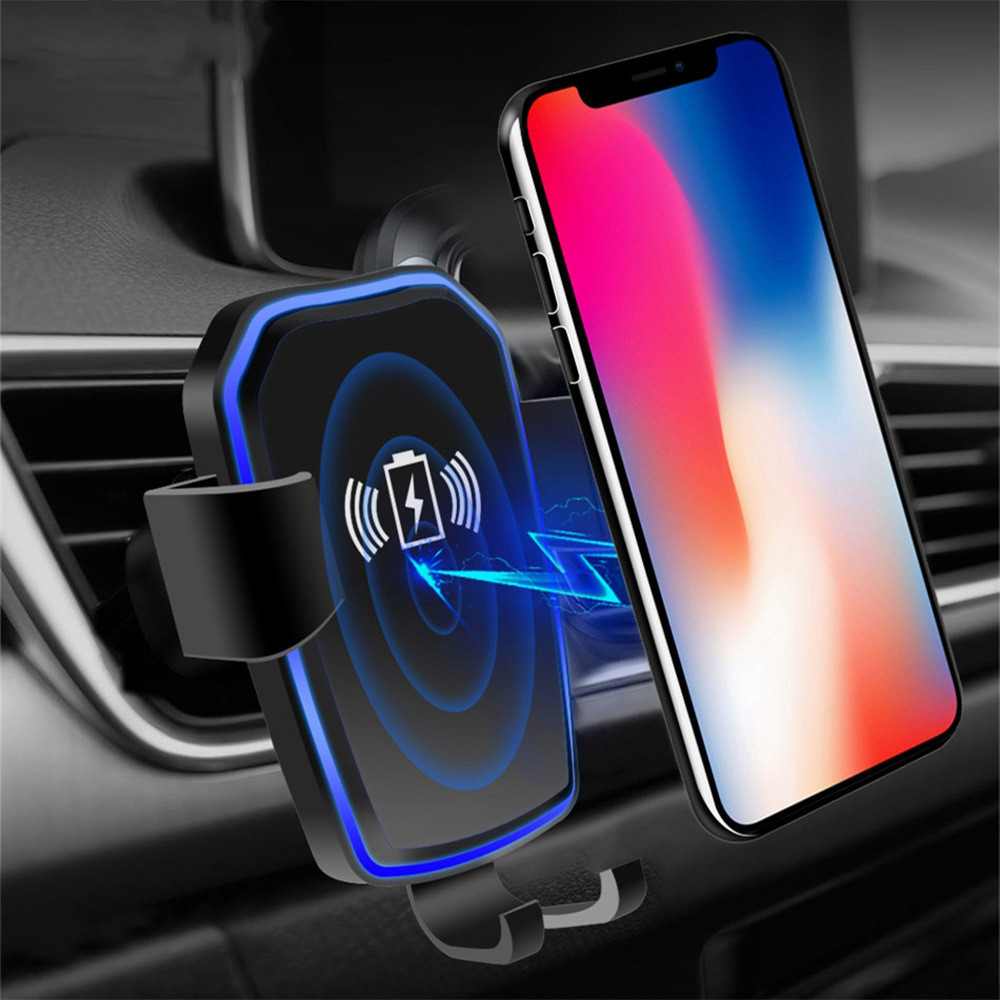 Image 2 - 10W Qi Car Wireless Charger For iPhone Xr X Gravity Sucker Car Phone Holder Fast Charging For Samsung S10 S9 Adjustable Mount-in Car Chargers from Cellphones & Telecommunications