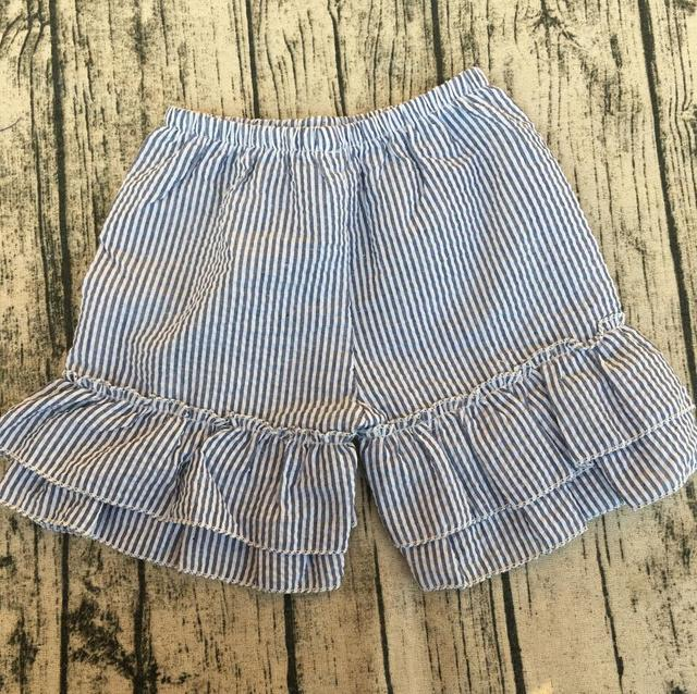 58a385073192 Girls Toddler Boutique Clothes Baby Shorts Monogrammed Boutique Girls  mutiple colors seersuker girls ruffle shorts