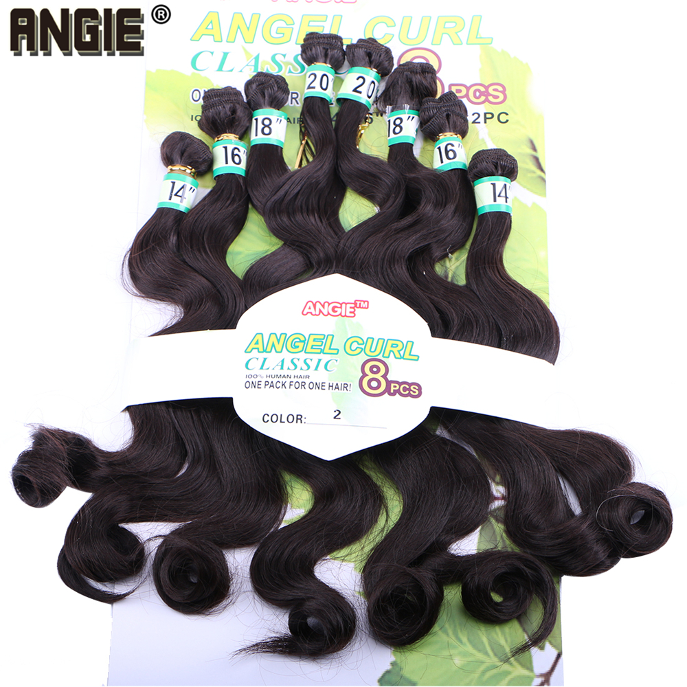 Angie Synthetic  Wavy Curly Hair Weaves  8pcs/Lot Hair Bundles 14