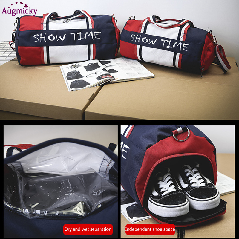 Image 5 - Dry and wet separation Fitness bag Cylinder waterproof Travel portable sports bags sport bolsa tassen tas gym Shoulder Handbag-in Laptop Bags & Cases from Computer & Office