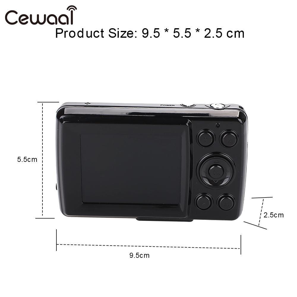 Cewaal Black Ultra Photo Camera 16MP Ultra-clear HD Digital Camera DVR 1080P Mini HD Camera Precise Video Recorder Camera DVR 4