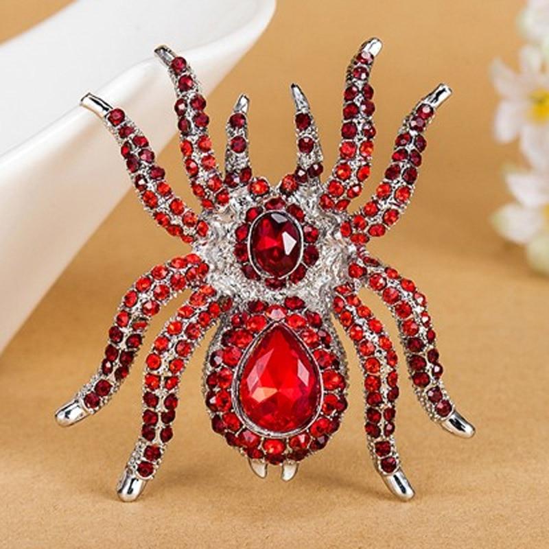 Luxury Brand Үлкен Үлкен Spider Brooches Fashion Steampunk - Сәндік зергерлік бұйымдар - фото 2