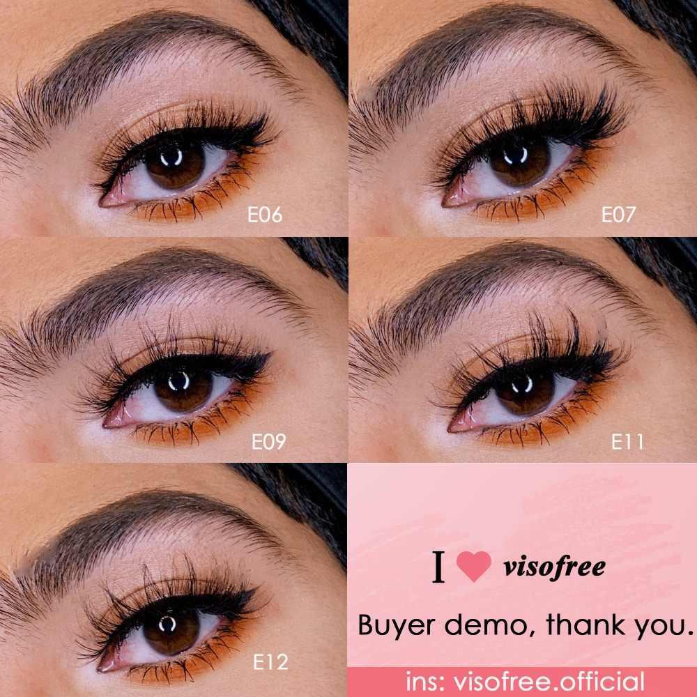 Visofree Nerz Wimpern 3D Nerz Wimpern 100% Cruelty free Peitsche Handgemachte Wiederverwendbare Natürliche Wimpern Beliebte Falsche Wimpern Make-Up