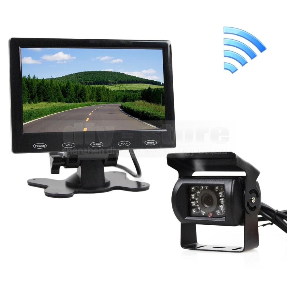 ФОТО DIYKIT 12V Wireless Rear View Kit For Horse Trailer Motorhome Backup CCD Camera Kit System 7