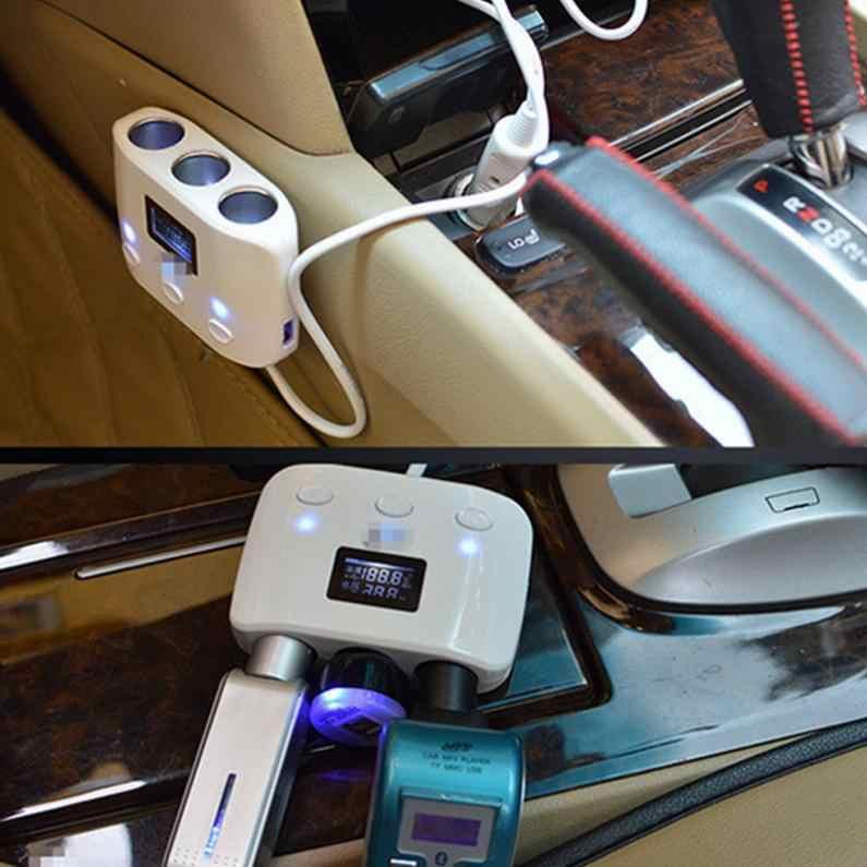 3 способа автомобильного прикуривателя Разветвитель 2 usb-преобразователь мощности автомобильное зарядное устройство адаптер Поддержка автоматического выключения питания