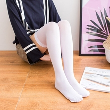 1 Pair sexy Women stockings adult over the knee high black white show thigh long Ladies