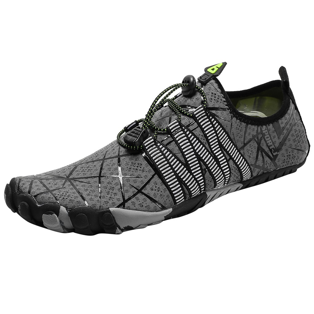 CHAMSGEND Couple Fashion Wading And Quick-drying Outdoor Leisure Sports Upstream Shoes Non-slip Wear-resistant Beach Water Shoes