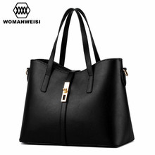2017 Fashion Simple Women Messenger Bags High Quality PU Leather Handbags Large Women Cross-Body Torebki Damskie 12 Color Pouch