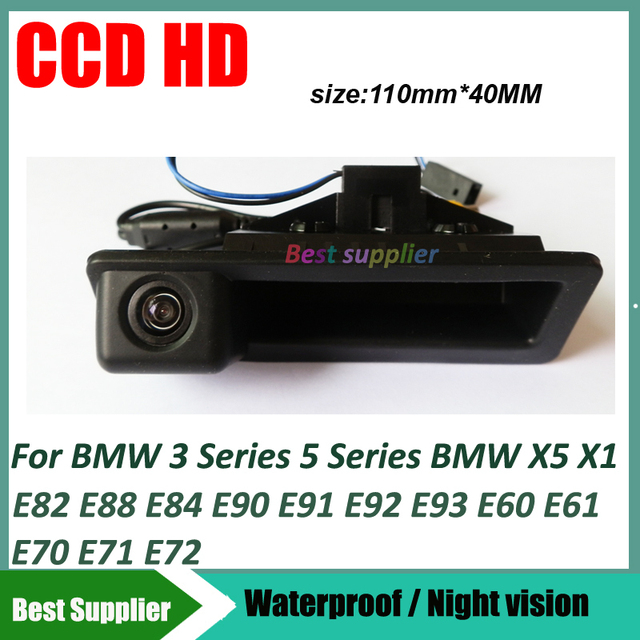 Вид сзади автомобиля Парковка Камера для BMW 3 серии 5 серии BMW X5 X1 X6 E39 E46 E53 E82 E88 E84 E90 E91 E92 E93 E60 E61 E70 E71 E72