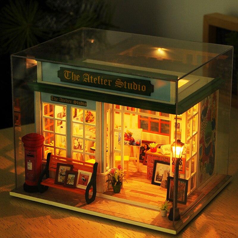 Kupit Kukly I Myagkie Igrushki Wooden Diy Dollhouse Toy Miniature
