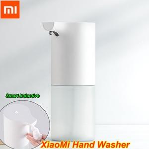 Image 1 - 100% الأصلي شاومي Mijia السيارات التعريفي رغوة غسل اليد التلقائي الصابون 0.25s الأشعة تحت الحمراء الاستشعار للمنازل الذكية