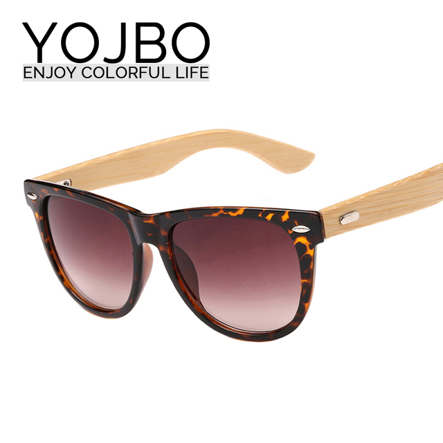 YOJBO Luxury Wood Sunglasses 2017 Fashion Round Mirrored Ladies Sun Glasses for Women Brand Designer Eyewear Vintage Glasses